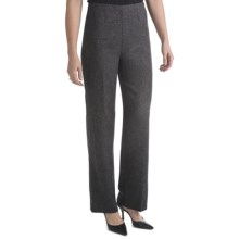 Stretch Tweed Pants - Side Zip (For Women) in Charcoal - 2nds