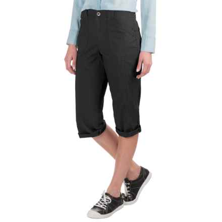 Stretch Twill Capris (For Women) in Black - 2nds