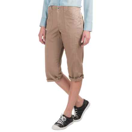 Stretch Twill Capris (For Women) in Tan - 2nds
