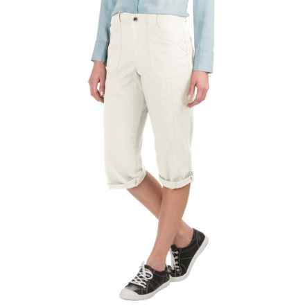 Stretch Twill Capris (For Women) in White - 2nds