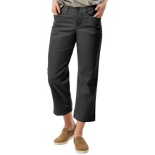 Stretch Twill Capris - Mid Rise (For Women) in Black - 2nds