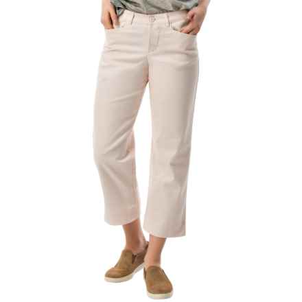 Stretch Twill Capris - Mid Rise (For Women) in Khaki - 2nds
