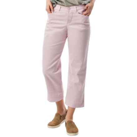 Stretch Twill Capris - Mid Rise (For Women) in Lilac - 2nds