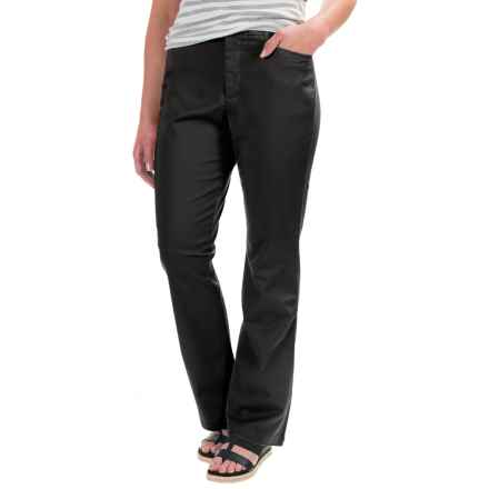 Stretch Twill Pants - Flat Front (For Women) in Black - 2nds