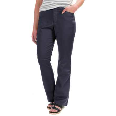 Stretch Twill Pants - Flat Front (For Women) in Navy - 2nds