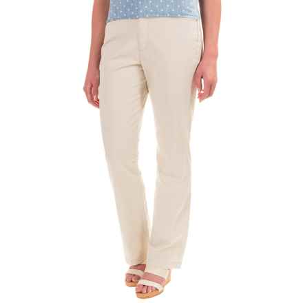 Stretch Twill Pants - Flat Front (For Women) in Sand - 2nds