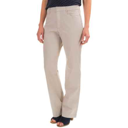 Stretch Twill Pants - Flat Front (For Women) in Stone Speck - 2nds