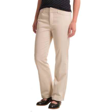 Stretch Twill Pants (For Petite Women) in Natural - 2nds