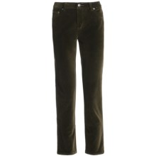 Stretch Velvet Jeans - 5-Pocket (For Women) in Olive - 2nds