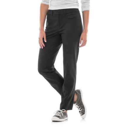 Stretch-Woven Cotton Pants (For Women) in Black - 2nds