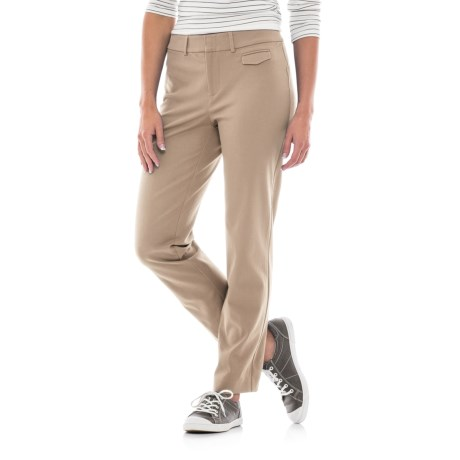 Stretch-Woven Cotton Pants (For Women)