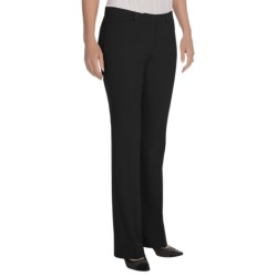 Stretch-Woven Dress Pants - Straight Leg (For Women) in Black