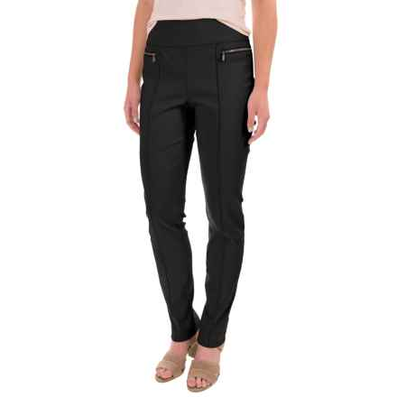 Stretch-Woven Skinny Pants (For Women) in Black - 2nds