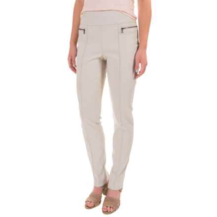 Stretch-Woven Skinny Pants (For Women) in Khaki - 2nds