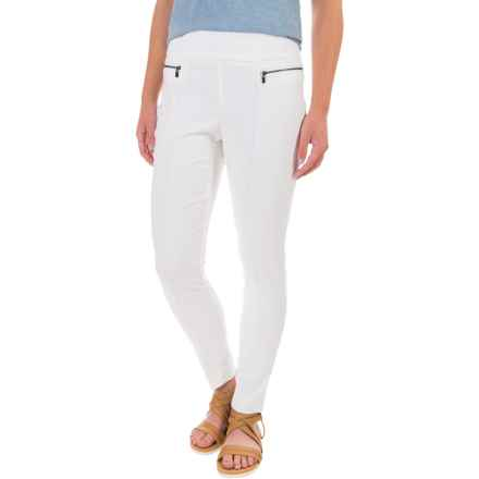 Stretch-Woven Skinny Pants (For Women) in White - 2nds