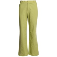 Stretch Woven Twill Bootcut Pants - Flat Front (For Women) in Green - 2nds