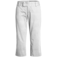 Stretch Woven Twill Capris - Flat Front (For Women) in White - 2nds