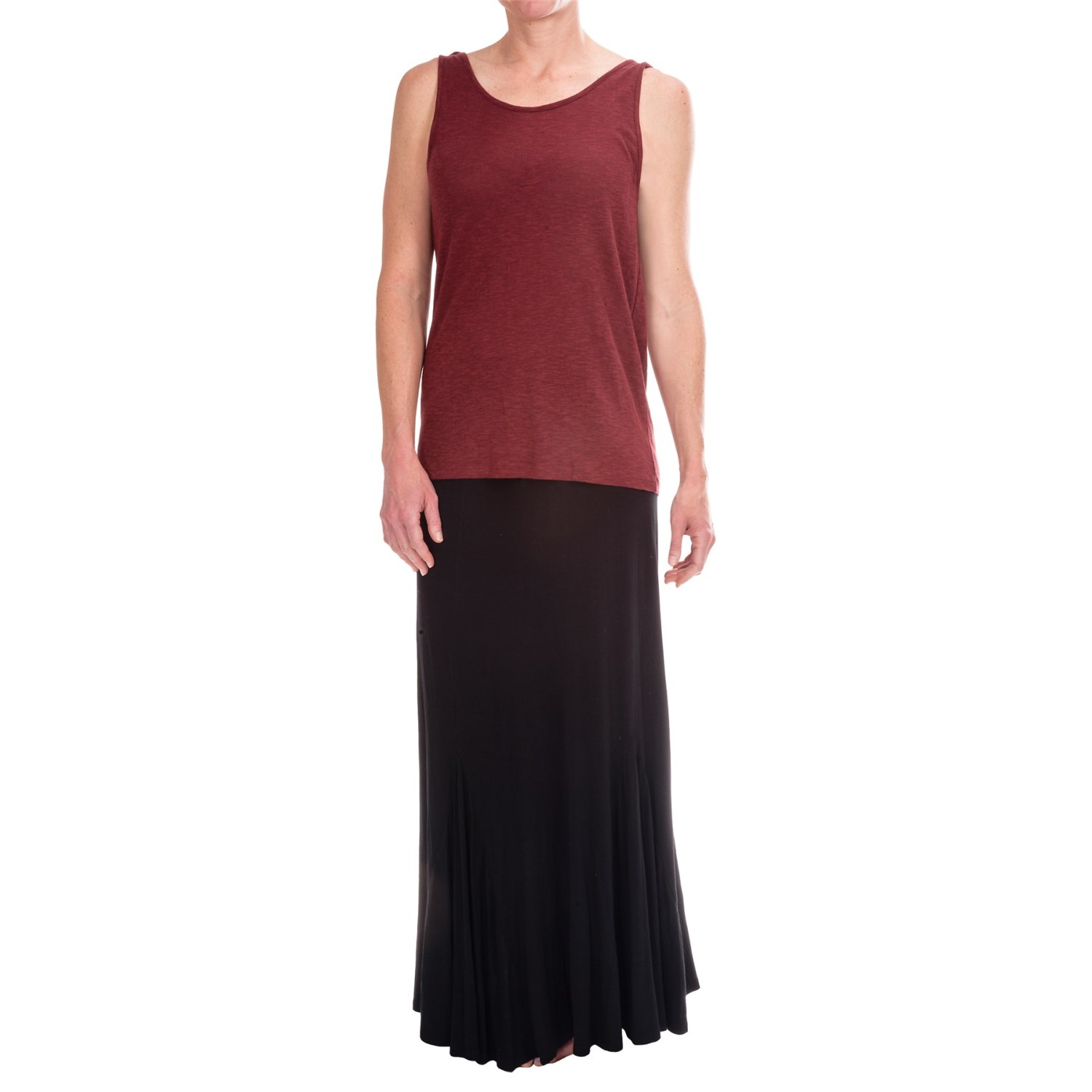 stretchy knit maxi skirt for 9071d save 61