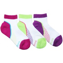Stride Rite Aubree Made 2 Play Socks - 3-Pack, Ankle (For Little Girls) in Purple/Lime/Fuchsia - Closeouts