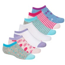 Stride Rite Brooke Socks - No Show, 7-Pack (For Little Girls) in Multi - Closeouts