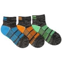 Stride Rite Bryce Made 2 Play Socks - 3-Pack, Ankle (For Little Boys) in Blue/Orange/Mint - Closeouts