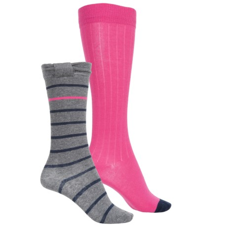 Stride Rite Knee-High Socks - 2-Pack, Over the Calf (For Girls) in Bow Brynley Grey