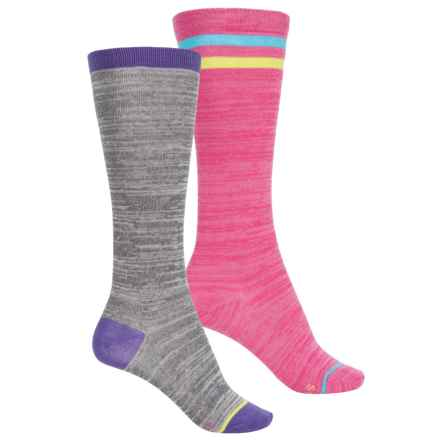 Stride Rite Knee-High Socks - 2-Pack, Over the Calf (For Girls) in Tube Tori Pink - Closeouts