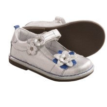 Stride Rite Medallion Collection Ciara Mary Jane Shoes - Slip-Ons (For Infant Girls) in Silver/Purple - Closeouts