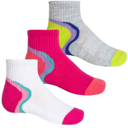 Stride Rite Sport Low Socks - 3-Pack, Quarter Crew (For Girls) in White - Closeouts