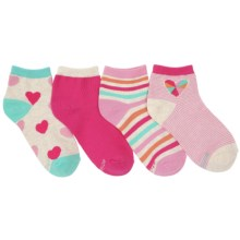 Stride Rite Tracey Socks - Ankle, 4-Pack (For Little Girls) in Pink/Teal - Closeouts