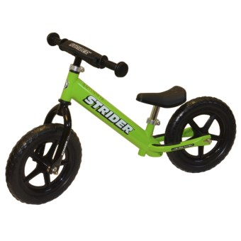 Strider ST-3 No-Pedal Balance Bike (For Kids) in Green