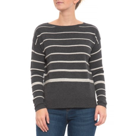 Image of Stripe Pullover Sweater - Merino Wool Blend (For Women)
