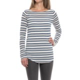 Striped Rayon Shirt - Long Sleeve (For Women)