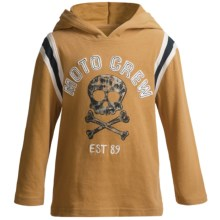 Striped Sleeve Hoodie (For Infant and Toddler Boys) in Gold - 2nds