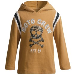 Striped Sleeve Hoodie (For Infant and Toddler Boys) in Gold