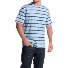 Striped T-Shirt - Short Sleeve (For Men) in Blue/Dark Stripe - Closeouts
