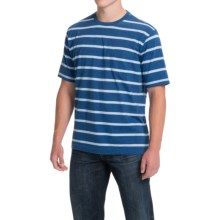 Striped T-Shirt - Short Sleeve (For Men) in Royal/Light Stripe - Closeouts