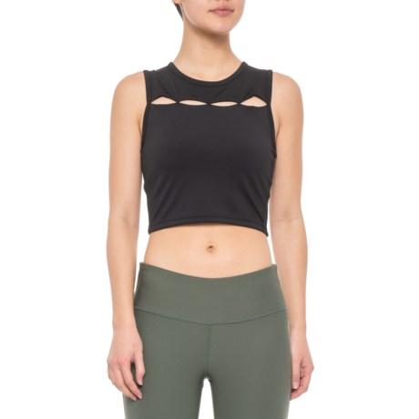 44794990a3075 STRUT THIS Aspen Crop Top - Sleeveless (For Women) in Black