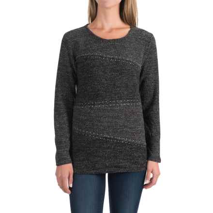 Studded Diagonal-Seam Sweater (For Women) in Black - 2nds