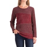 Studded Diagonal-Seam Sweater (For Women)