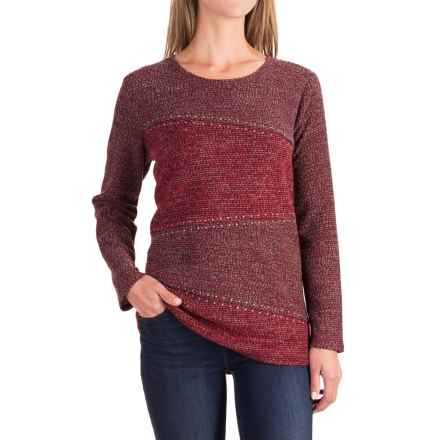Studded Diagonal-Seam Sweater (For Women) in Red - 2nds