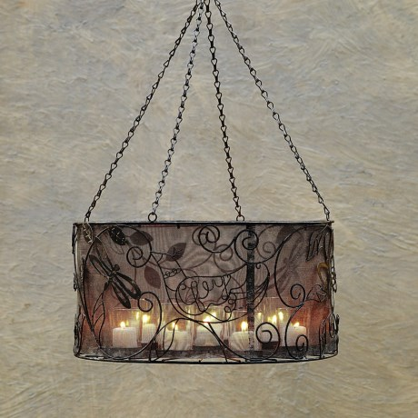 Studio M Patina Drum Shade Chandelier