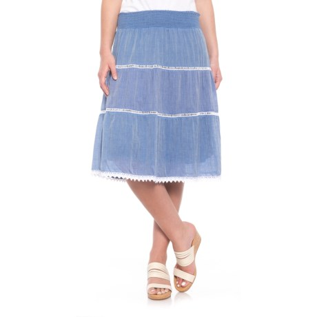 Studio West Chambray Skirt (For Women) in Chambray