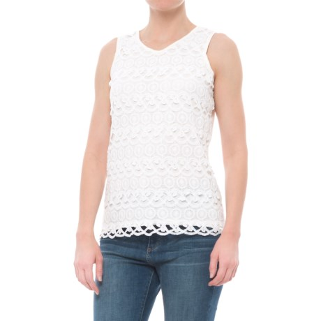 Studio West Circle Lace Tank Top (For Women) in Ivory
