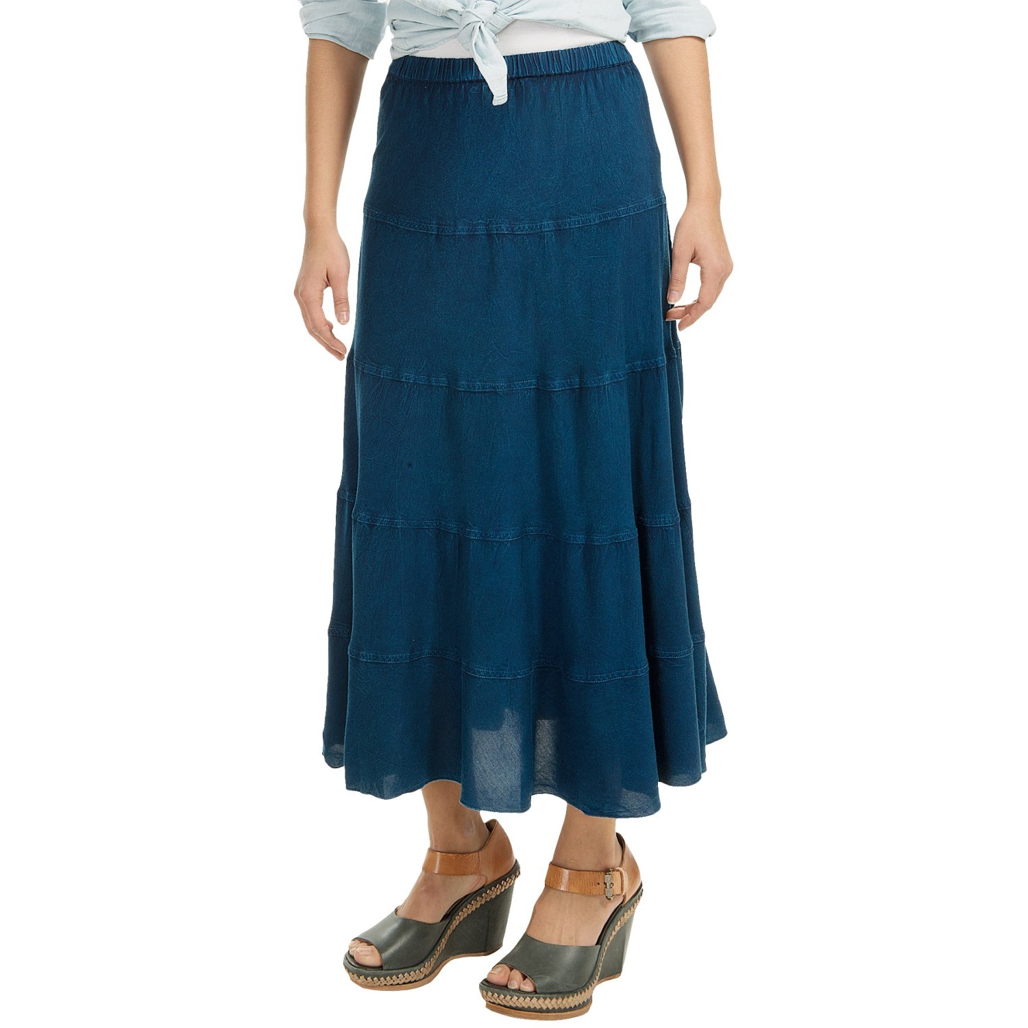 studio west denim 5 tiered rodeo skirt for save 50