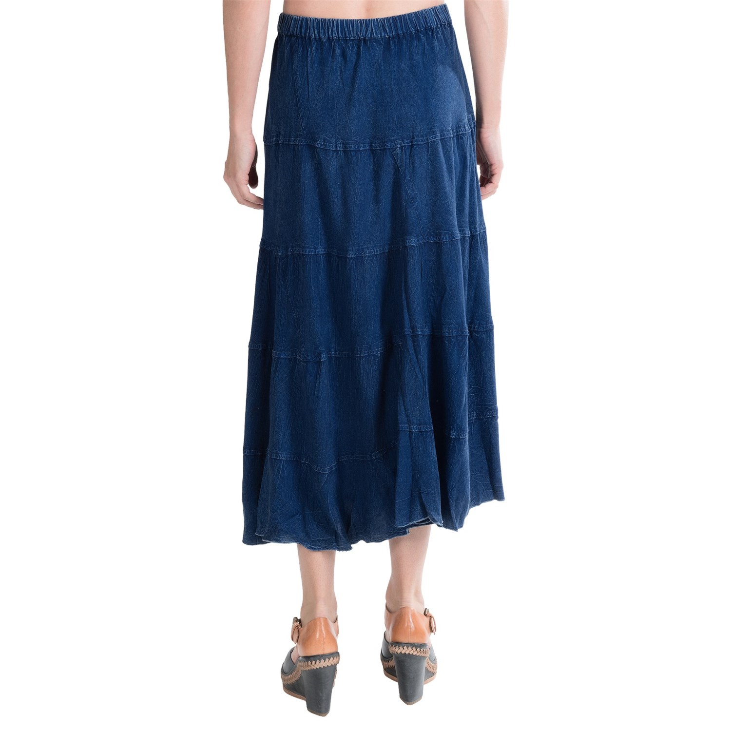 studio west denim 5 tiered rodeo skirt for 8694f