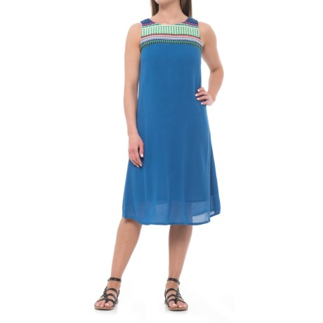 Studio West Embroidered Dress - Sleeveless (For Women) in Blue