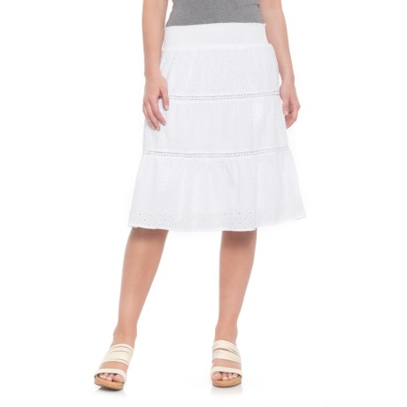 Studio West Eyelet Skirt (For Women) in White