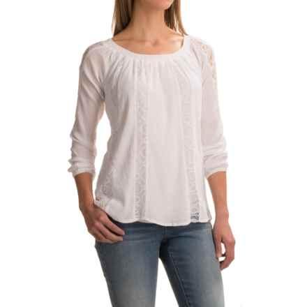 Studio West Gauze Boho Shirt - Long Sleeve (For Women) in White - Closeouts