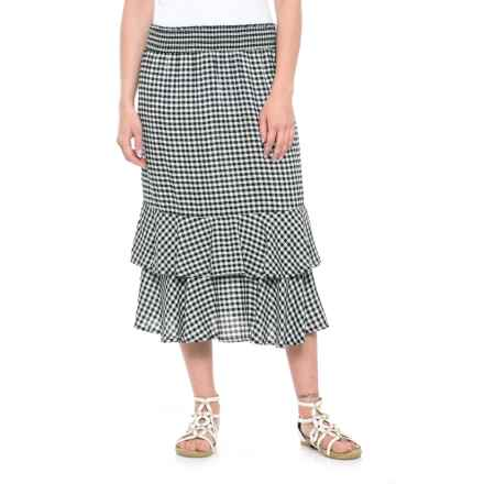 Studio West Gingham Pull-On Skirt (For Women) in Black/White - Closeouts